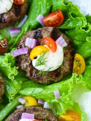 Hamburger Lettuce Wraps are a low carb dinner recipe