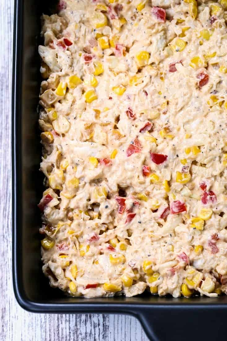 Hot Crab and Corn Dip is made with crab and fresh corn