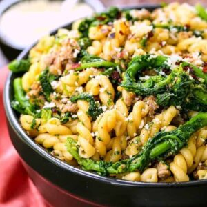 Pasta with Sausage and Broccolini is a pasta recipe with italian sausage and broccolini