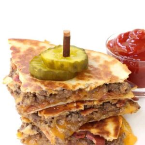 Bacon Cheeseburger Quesadillas | Easy Homemade Quesadilla Recipe