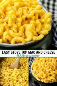 Easy Stove Top Mac and Cheese collage for Pinterest