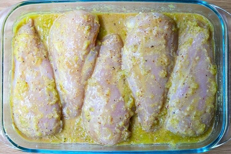 Our Favorite Chicken Marinade tastes best when marinated overnight