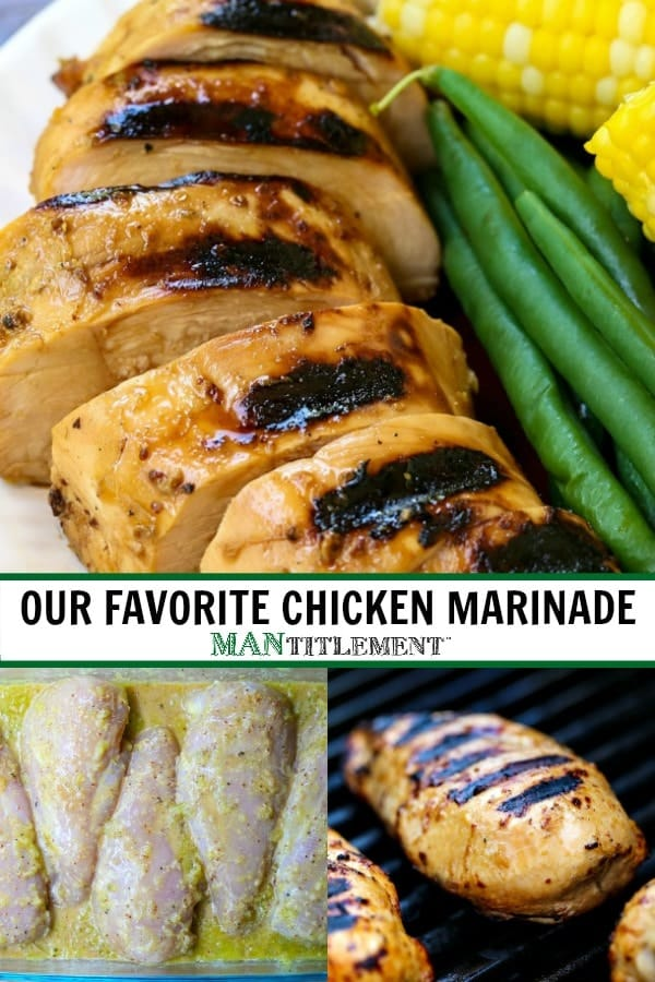 Our Favorite Chicken Marinade can be used on chicken breast, thighs or legs