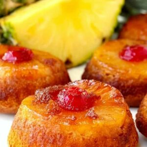 Pineapple Upside Down Whiskey Cakes