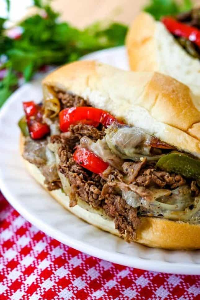 Quick Philly Cheesesteak Recipe is a one skillet meal that is ready in less than 30 minutes