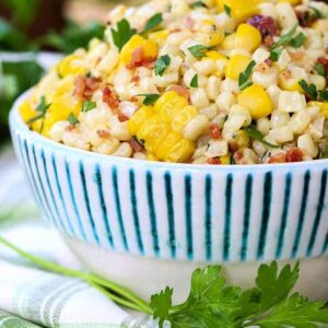 15 Minute Creamed Corn with Bacon