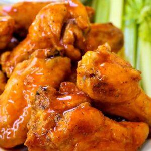 Crispy Baked Buffalo Chicken Wings | Easy Recipe For Crispy Wings