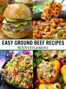 ground beef recipe collage for pinterest