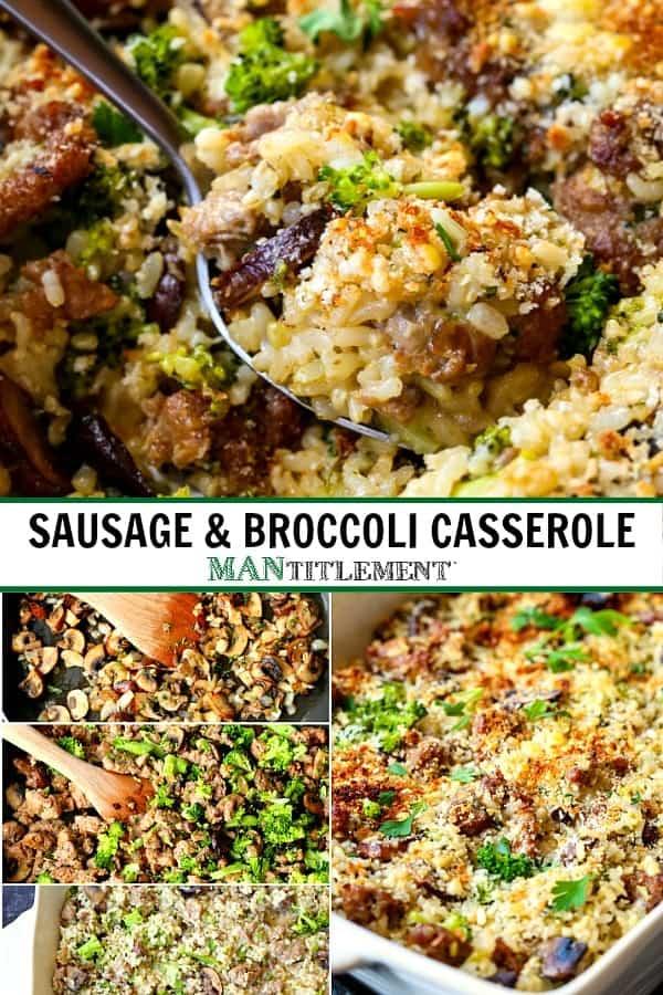 broccoli casserole recipe collage for pinterest