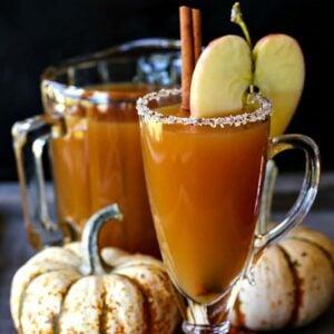 Slow Cooker Spiked Hot Apple Cider