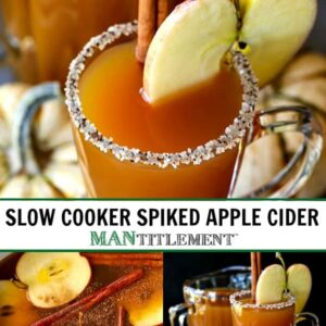 spiked cider cocktail collage for pinterest
