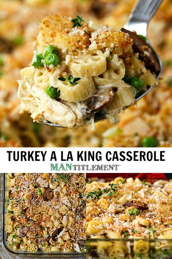 turkey a la king casserole is made with leftover turkey