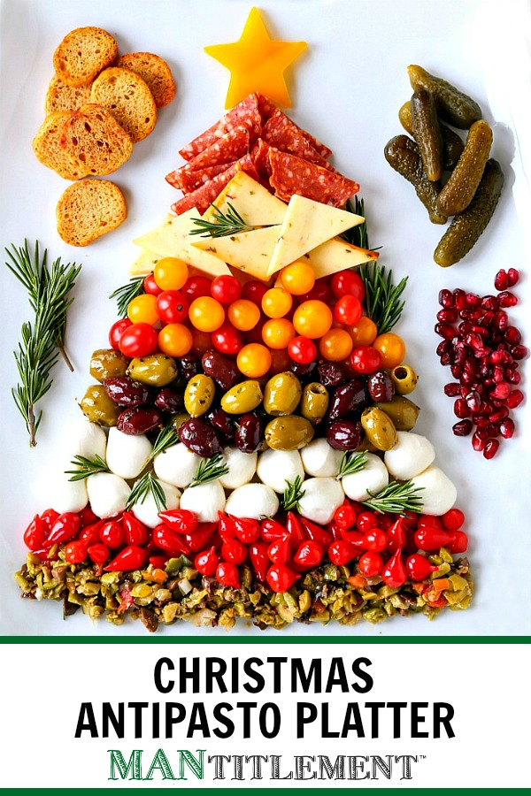 christmas antipasto platter for the holidays