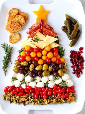 christmas antipasto platter for holiday appetizers