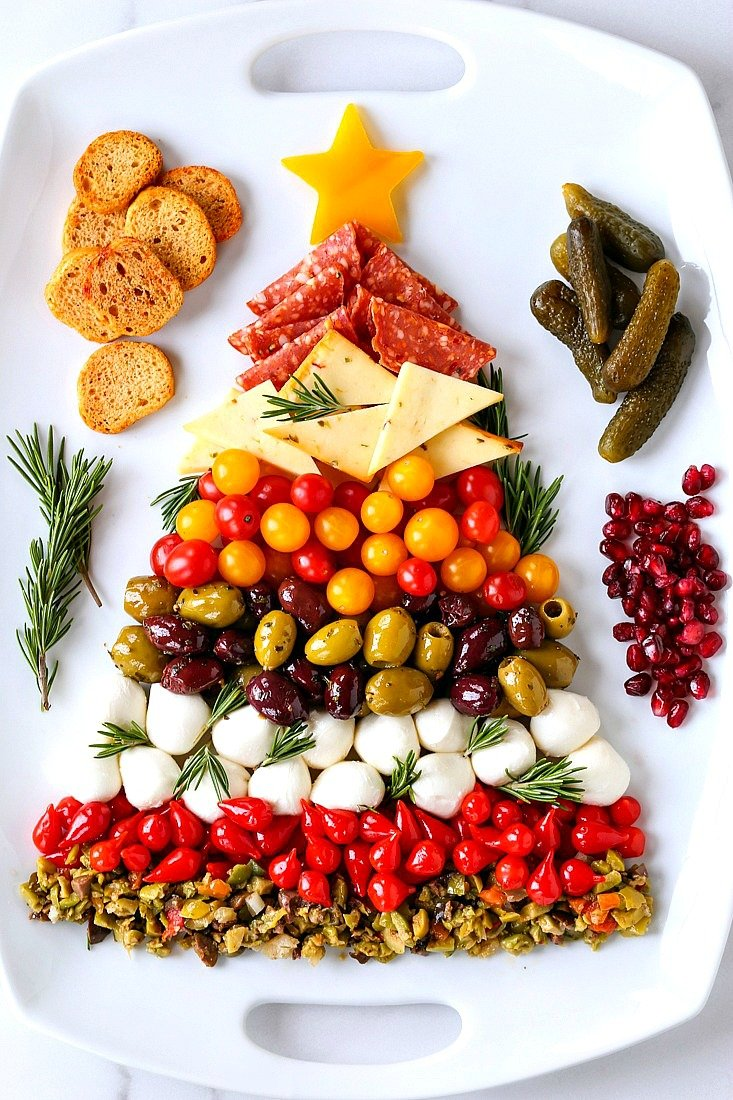 Christmas Antipasto Platter Easy Holiday Appetizer Mantitlement
