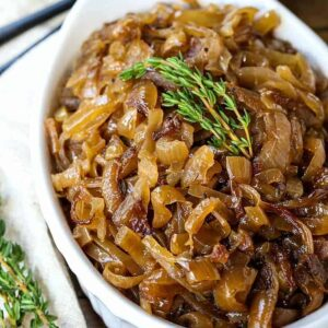 caramelized onions with fresh thyme