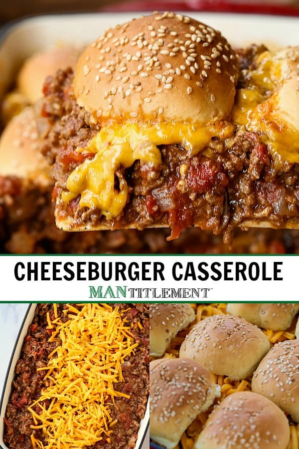 cheeseburger casserole collage for pinterest
