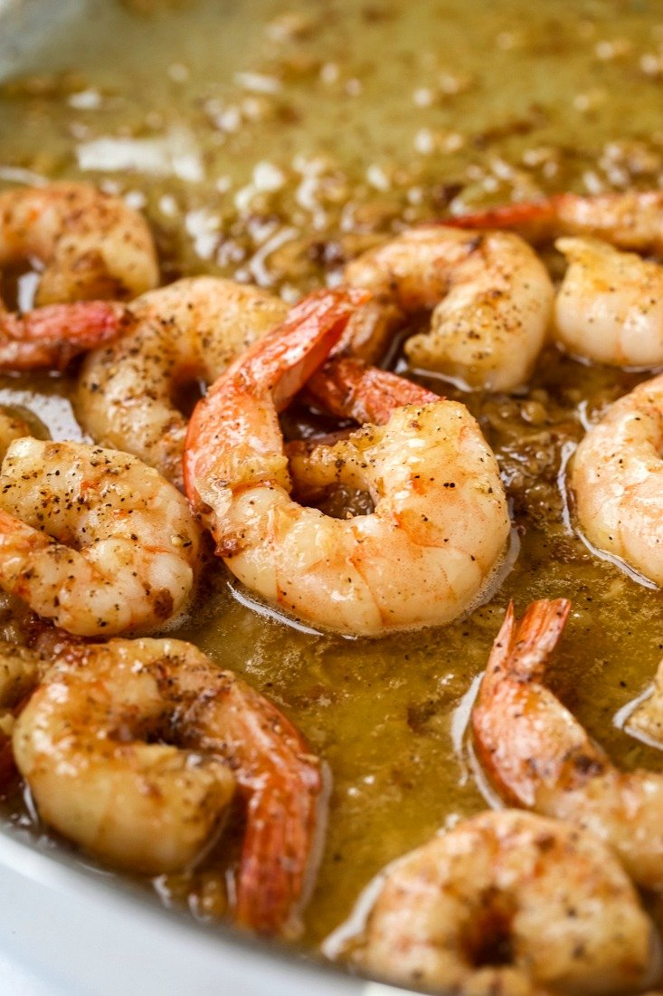 Garlic Butter Shrimp in sauce