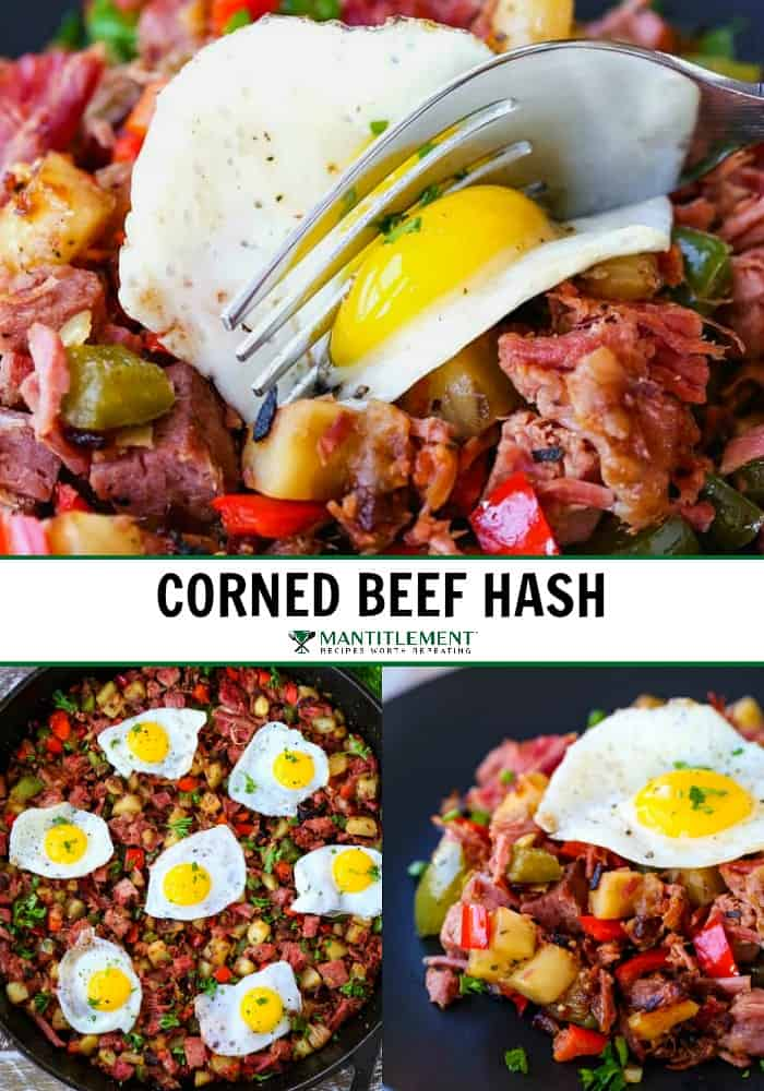 corned beef hash recipe collage for pinterest