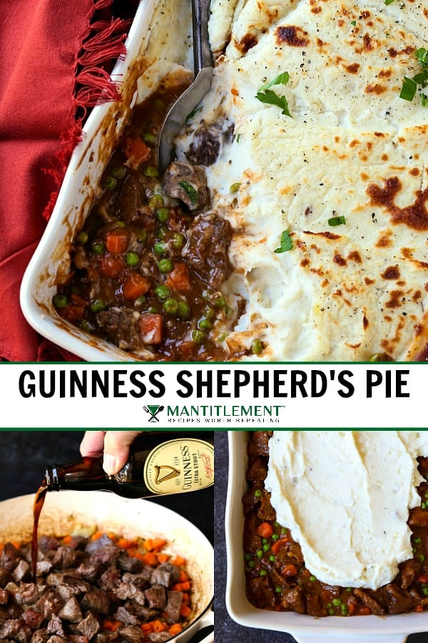 beef shepherd's pie recipe collage for pinterest