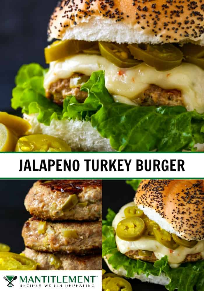 Jalapeno Turkey Burger recipe collage for pinterest