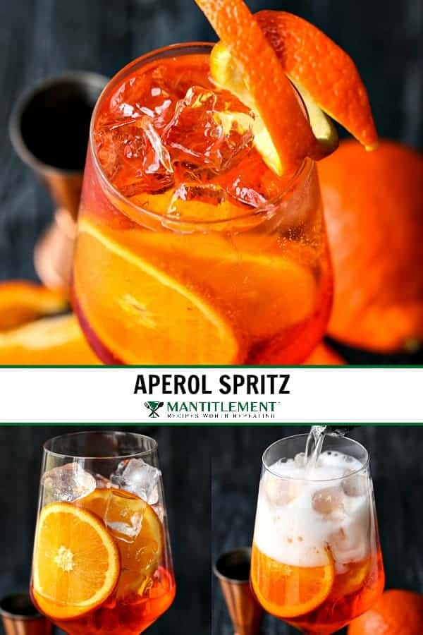 Perol Spritz Cocktail collage for Pinterest