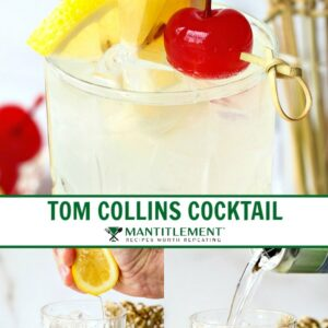 Tom Collins pin collage for Pinterest