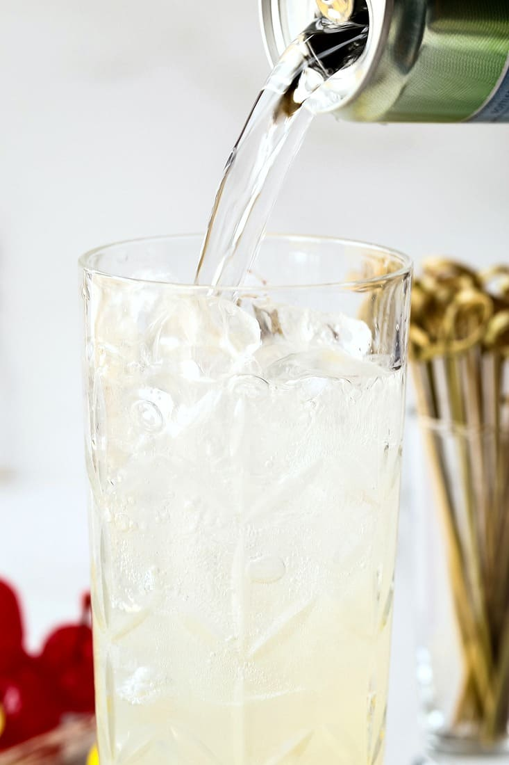 Gin is the base of a Tom Collins cocktail recipe
