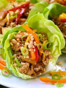 Asian Chicken Lettuce Wraps are a low carb dinner recipe