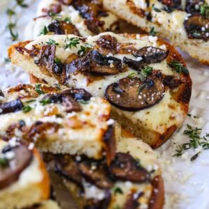 Mushroom Cheese Bread appetizer recipe