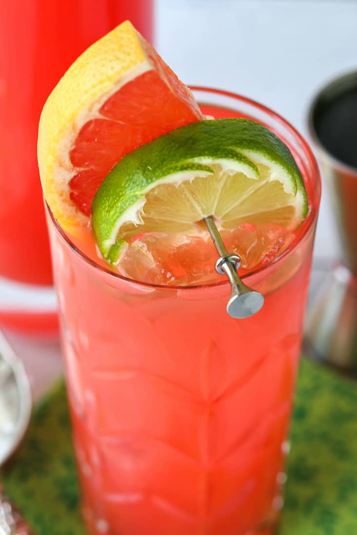 Sea Breeze Cocktail with garnish