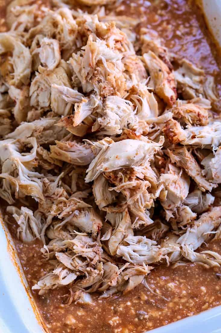 shredded chicken in chipotle cream sauce