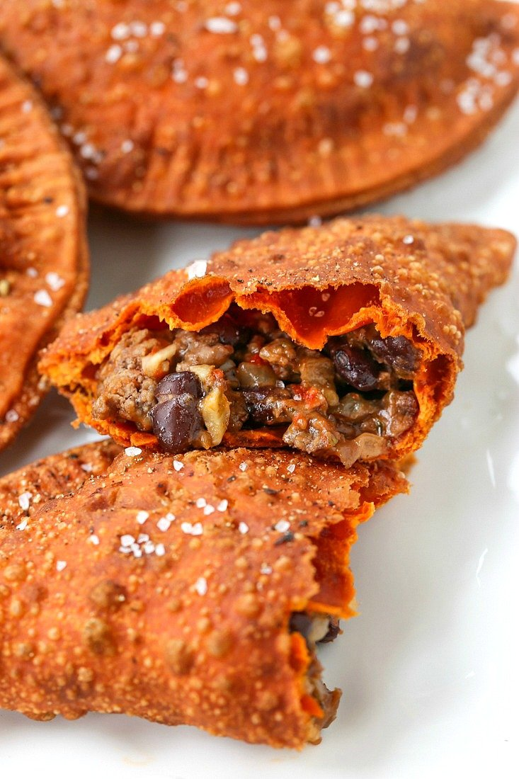 Beef empanadas with cheese and beef filling
