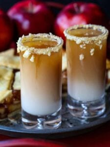 RumChata and whiskey layered shot recipe