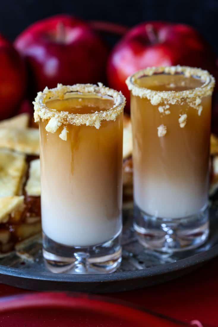 RumChata and whiskey layered shot recipe