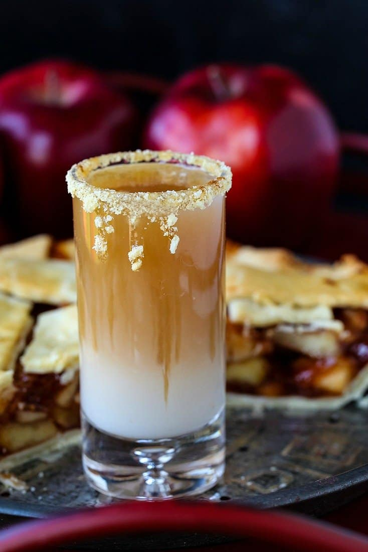 Apple Pie Shots for Thanksgiving and holidays