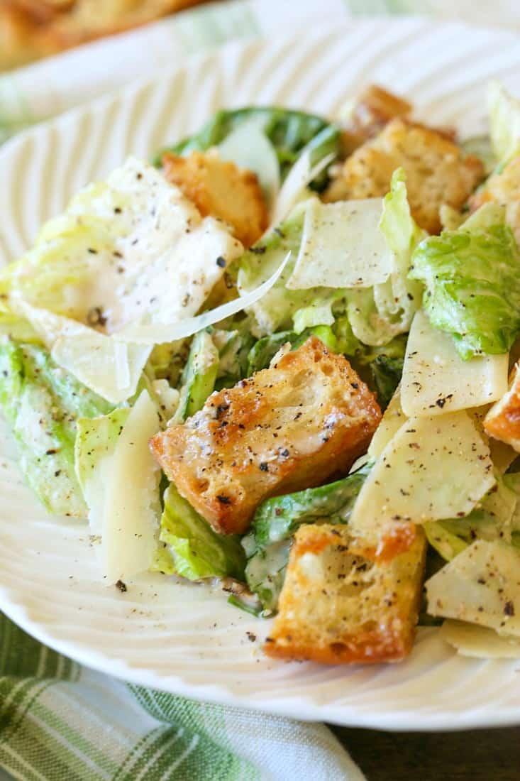 Homemade Caesar Dressing for salad recipe