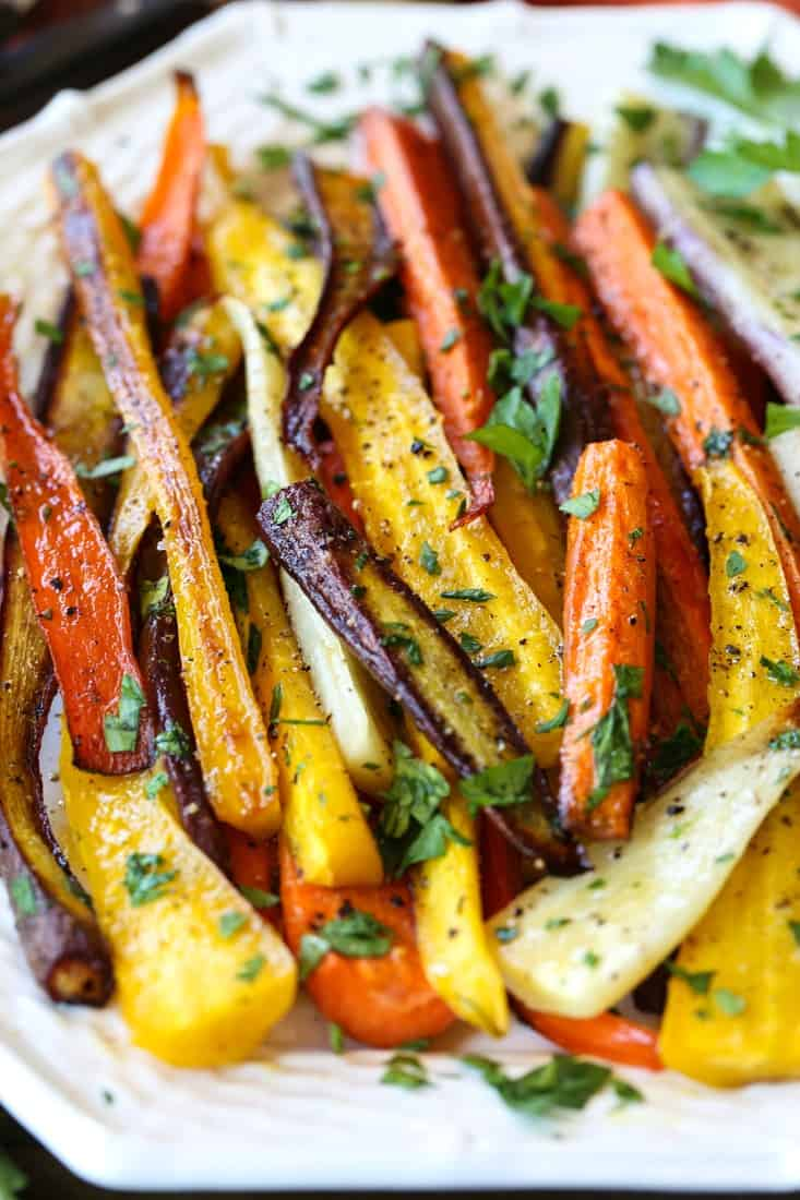 Roasted carrots recipe for holidays or everyday meals