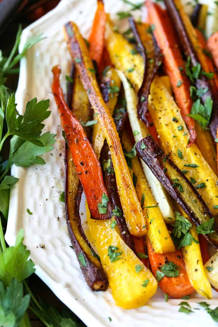 Roasted carrots recipe for a holiday side dish
