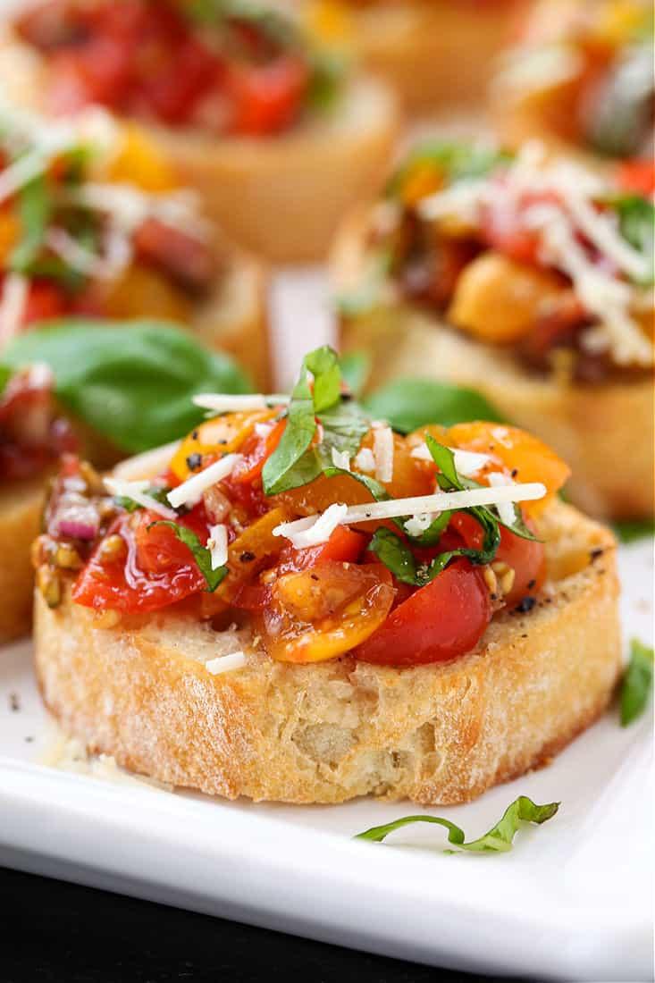 classic bruschetta recipe close up