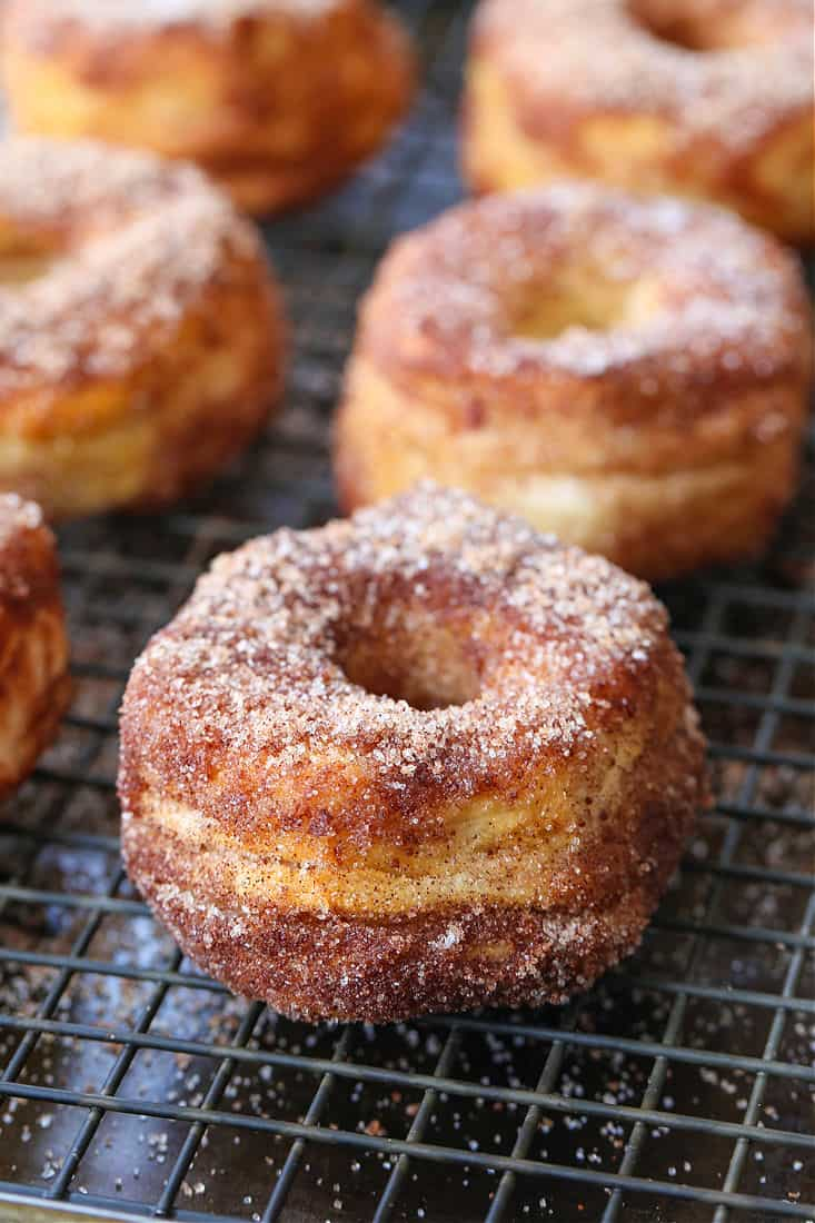 Air Fryer Donut recipe on a baking rack
