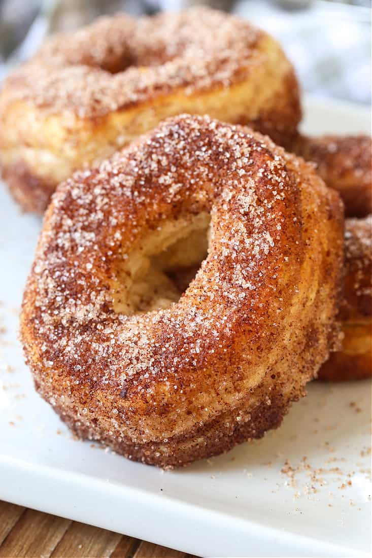 Air Fryer Donuts on a white plate
