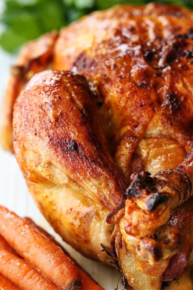 Roasted chicken recipe with crispy skin