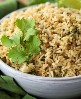 Cilantro Lime Rice in a bowl