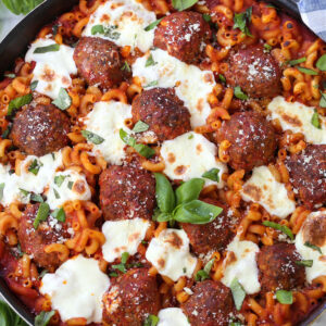 meatball and pasta skillet dinner