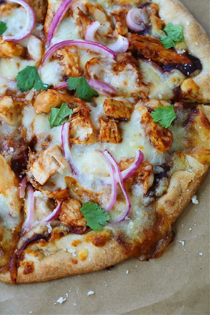 BBQ Chicken Pizza after cooking