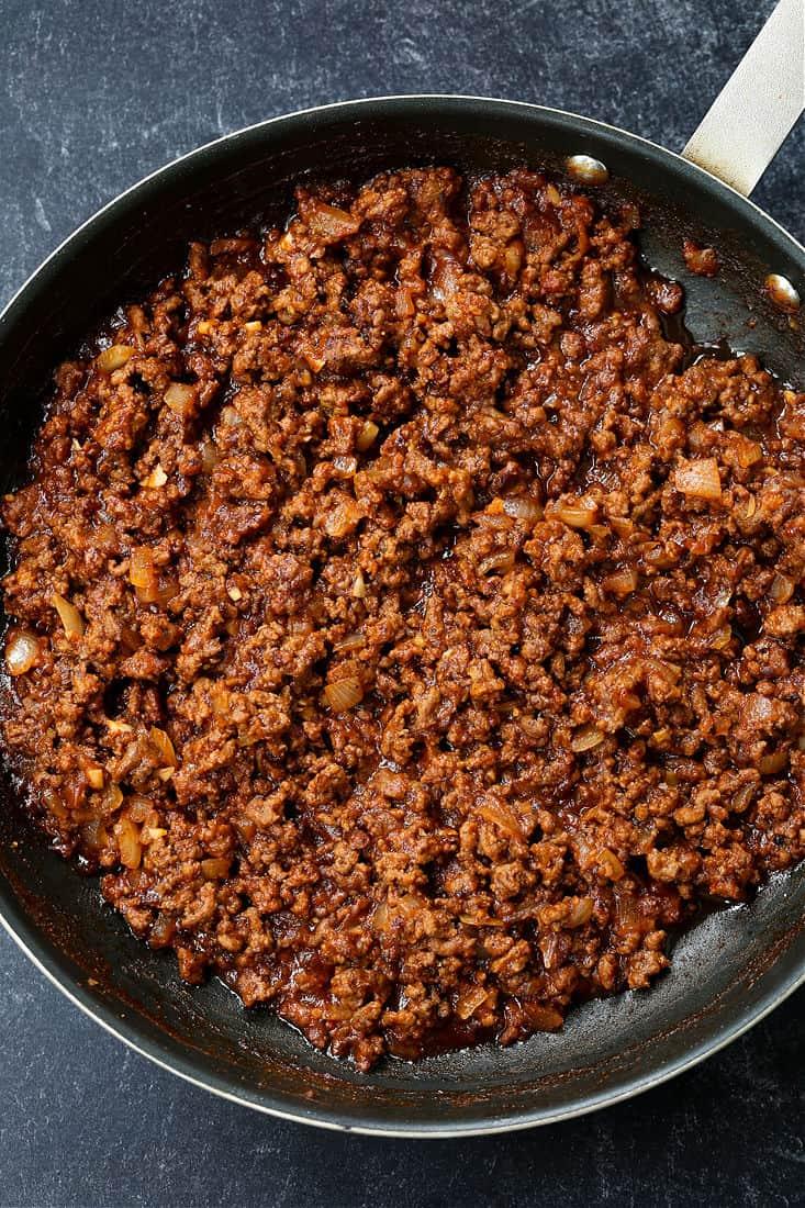 Ground beef filling for sloppy joe recipe