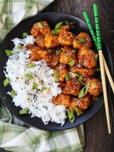 General Tso's Chicken dish made in an air fryer