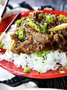 Mongolian Beef recipe made in a slow cooker